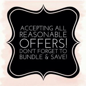 BUNDLE DISCOUNT 15% Off 2 or more Items in Closet